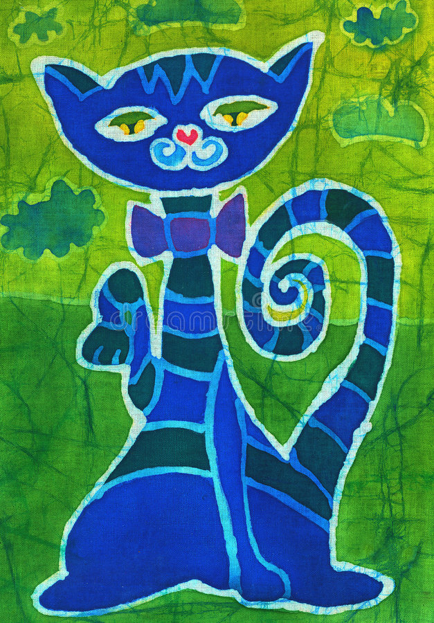 Gato azul ilustração do vetor