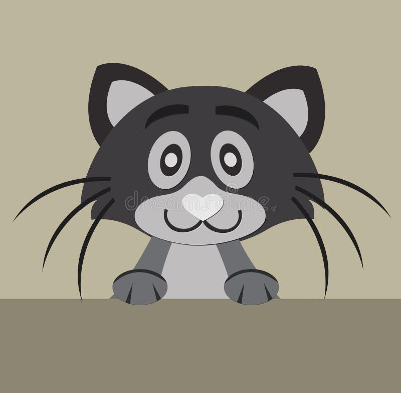 Gato bonito ilustração stock