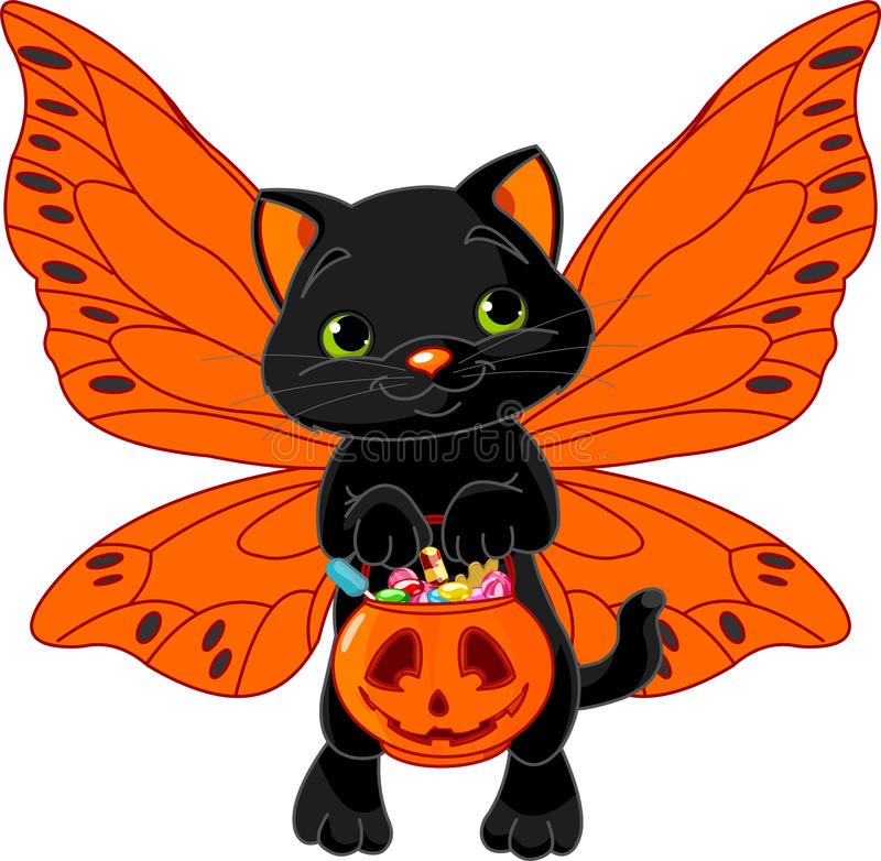 Gato bonito de Halloween