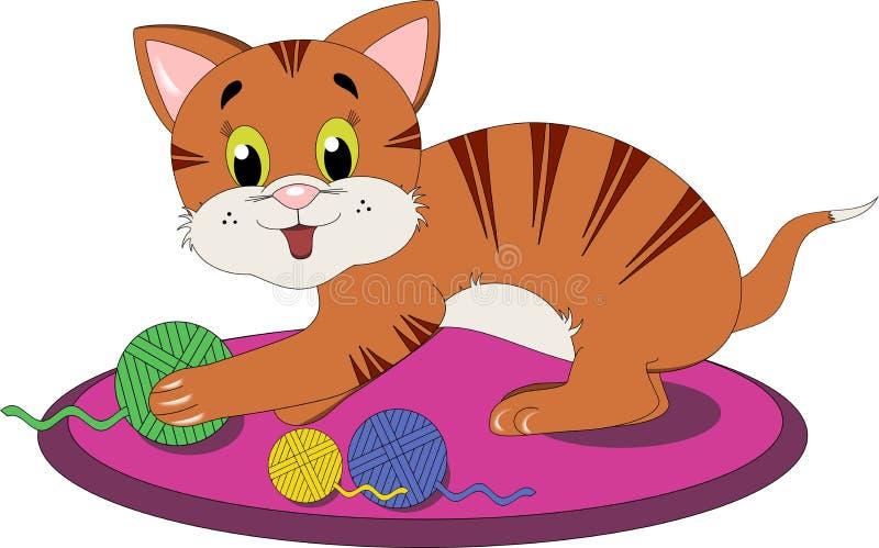 Gato brincalhão ilustração stock
