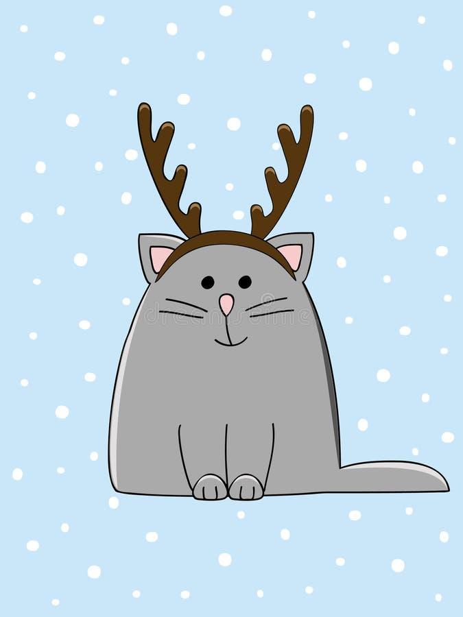 Gato córneo stock de ilustración