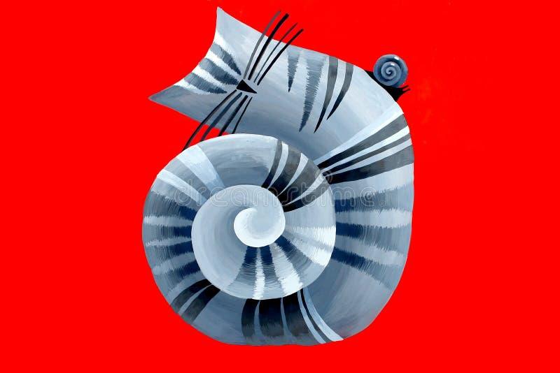Download Gato-caracol stock de ilustración. Ilustración de vida - 7277411