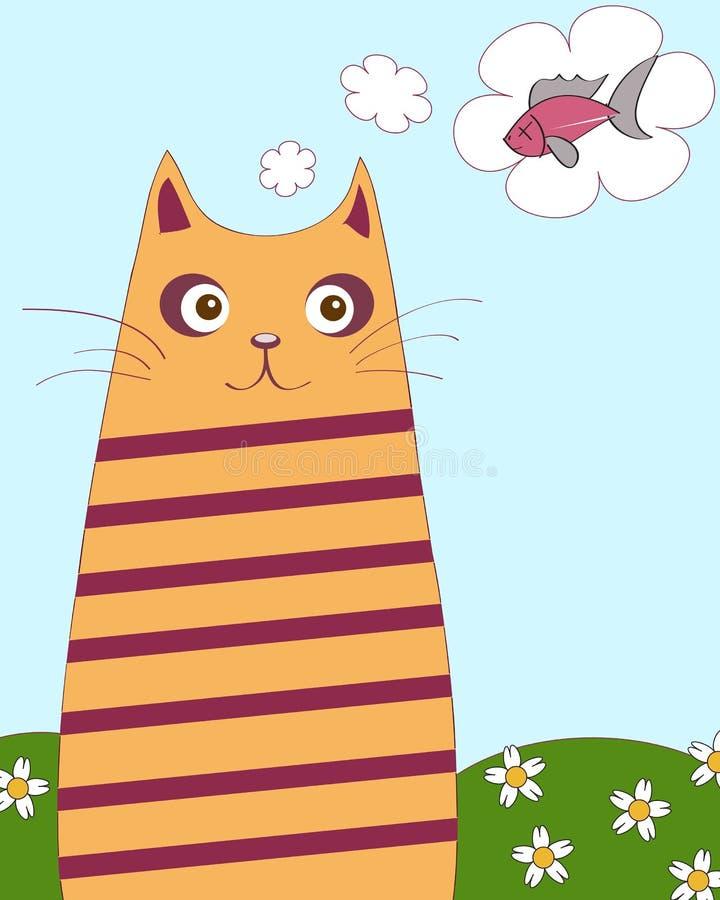 Gato Chubby ilustração stock