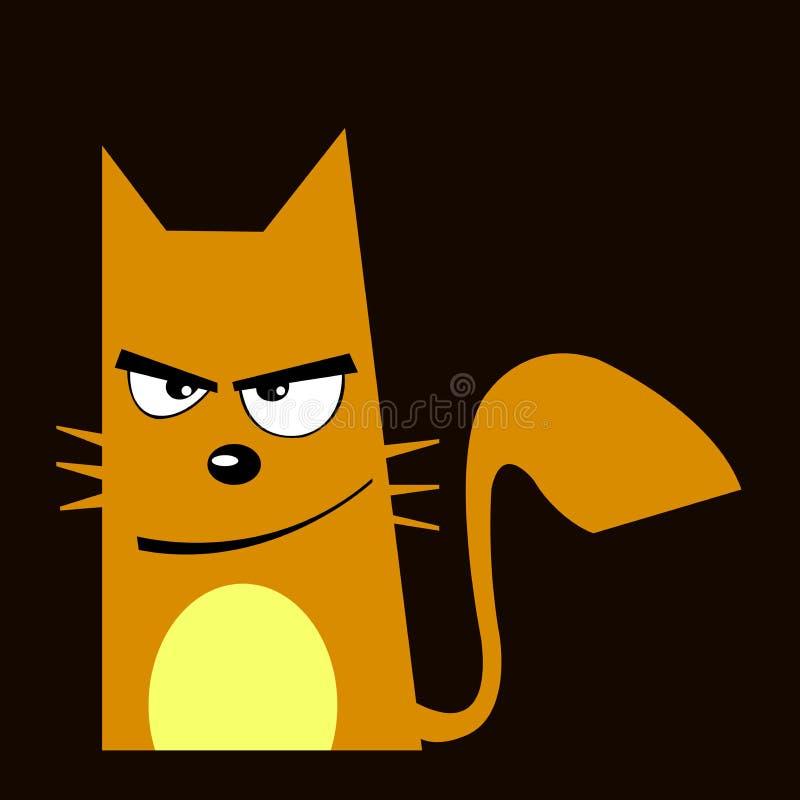 Gato con la expresión del malo pero de la sonrisa libre illustration