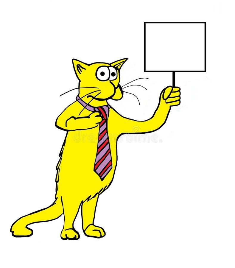 Gato con la muestra stock de ilustración