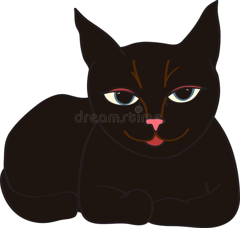 Gato contento stock de ilustración
