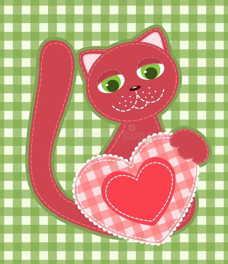 Gato da aplicação. ilustração stock