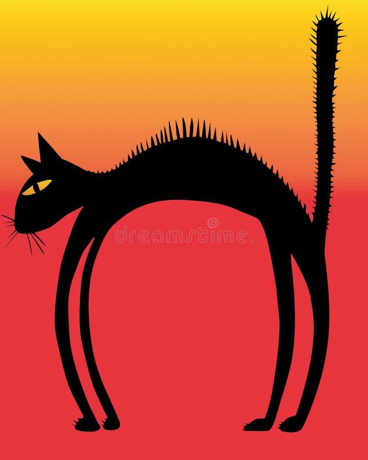Gato da cerda ilustração stock