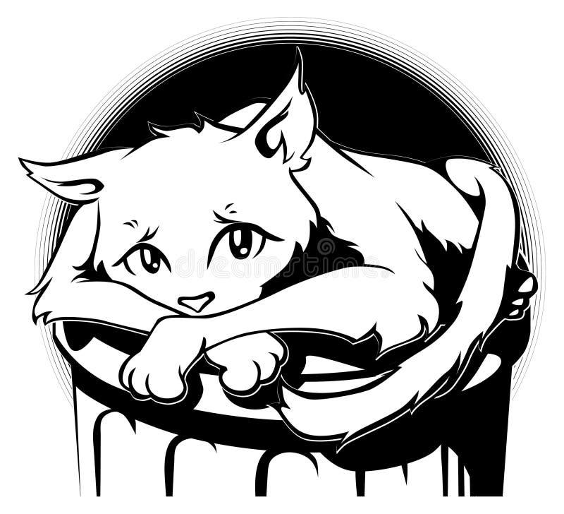 Gato de aléia triste ilustração do vetor