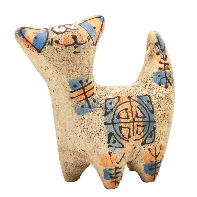 Gato de cerámica imagen de archivo libre de regalías