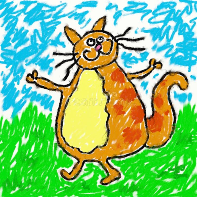 Gato de Childs ilustração do vetor