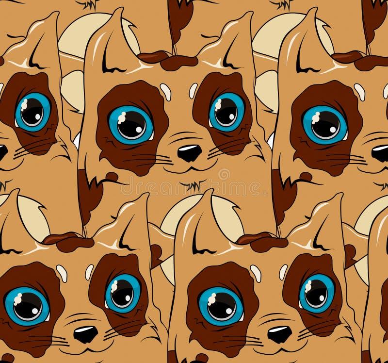 Gato de Chokolate ilustração stock