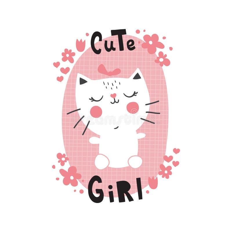 Gato de Cuta stock de ilustración