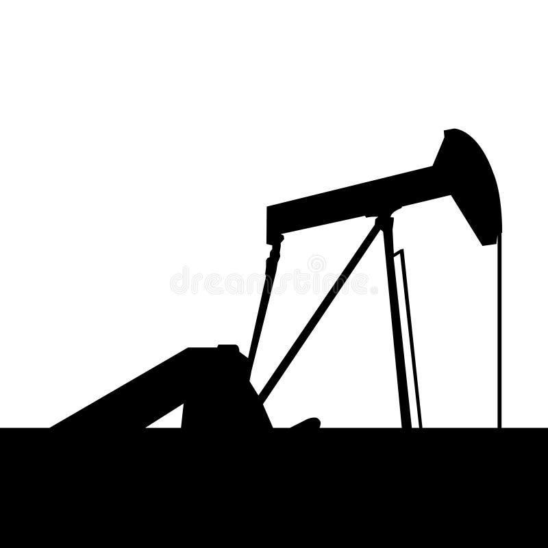 Gato de la bomba en pozo de petróleo sin procesar ilustración del vector