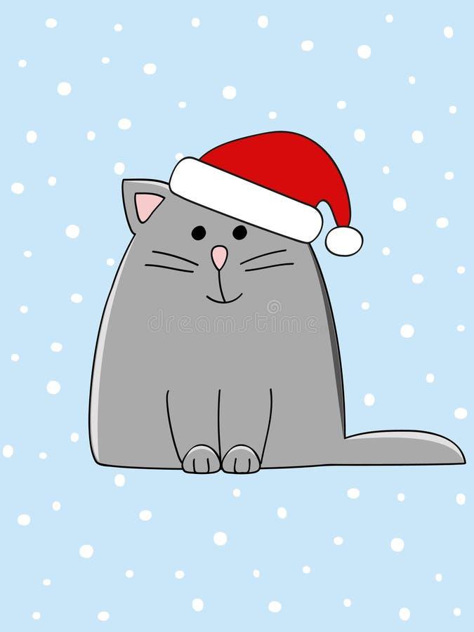 Gato de la Navidad stock de ilustración