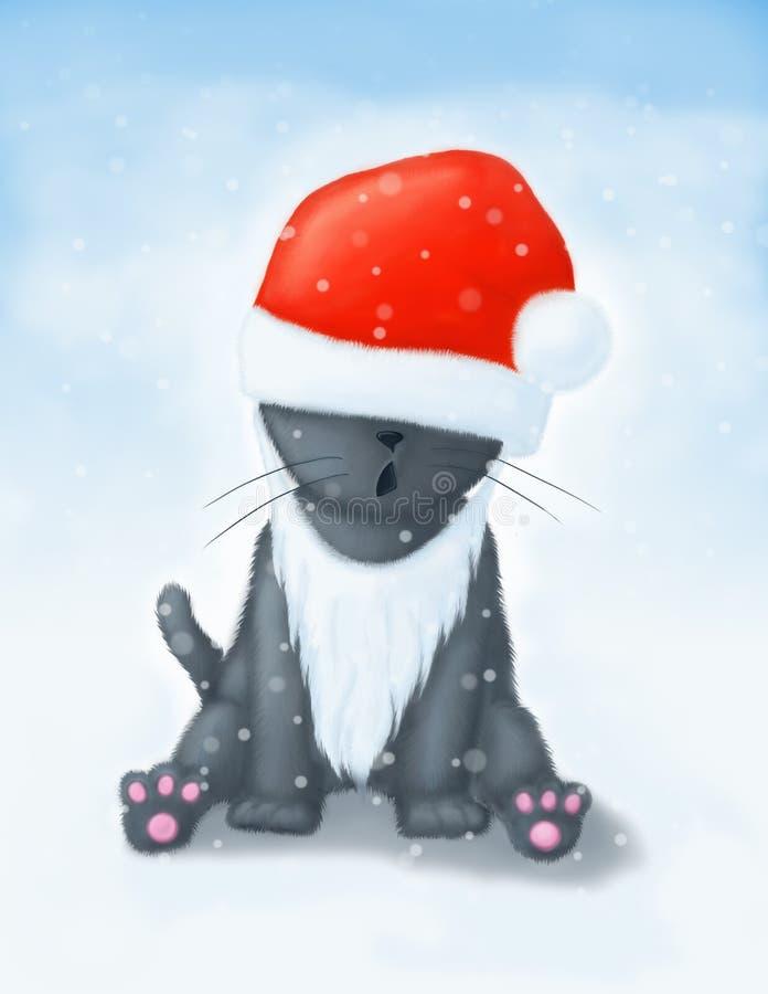Gato de la Navidad fotografía de archivo