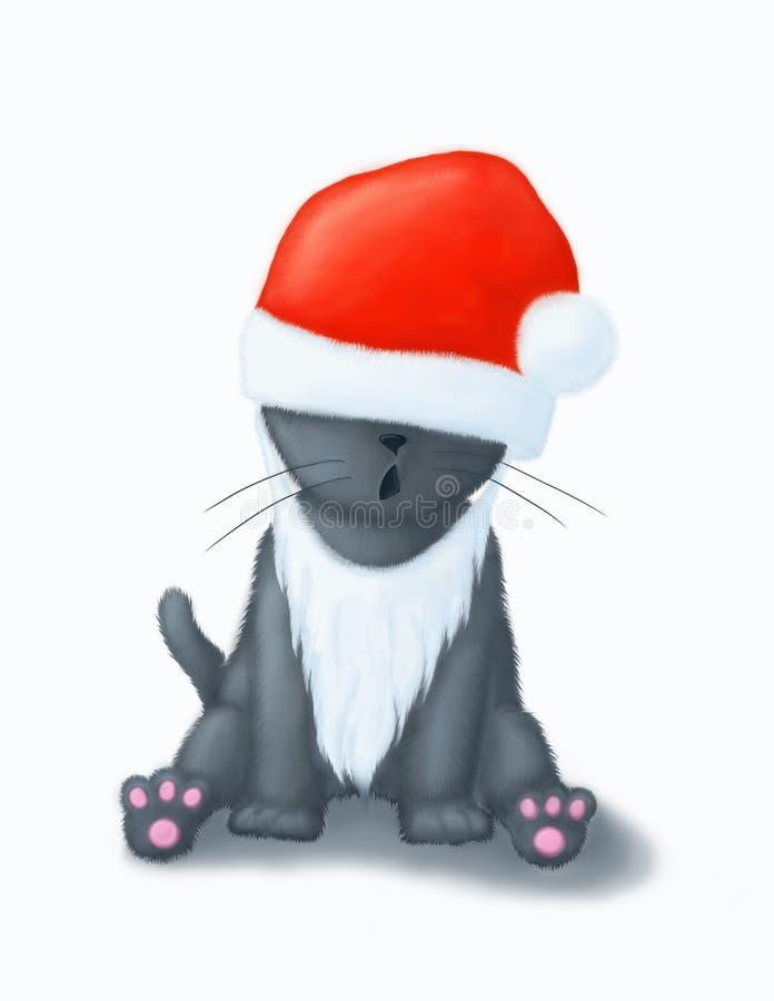 Gato 2 de la Navidad fotografía de archivo libre de regalías