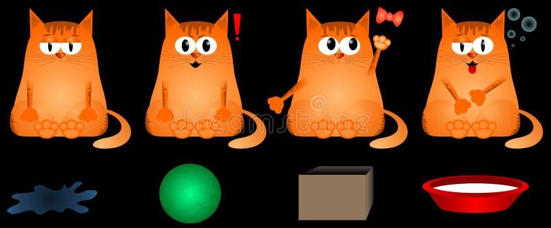Gato de las emociones ilustración del vector