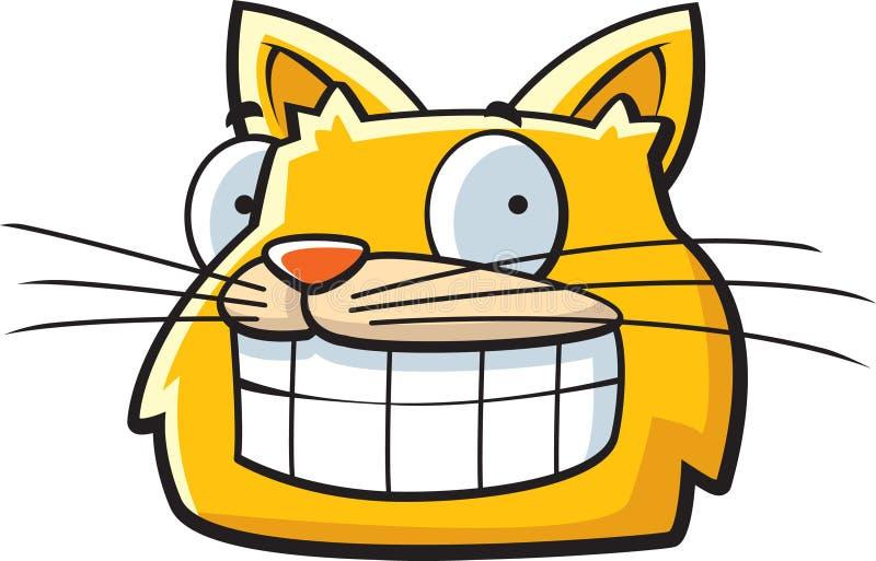 Gato de sorriso ilustração stock