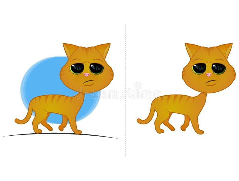 Gato de Tabby alaranjado ilustração do vetor