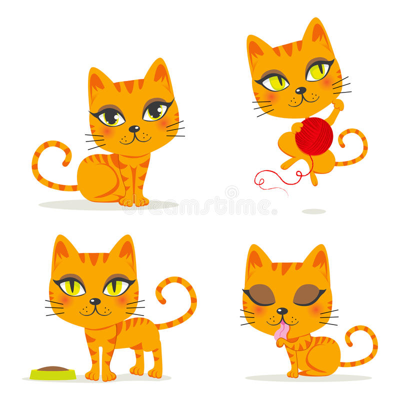 Gato de Tabby anaranjado stock de ilustración