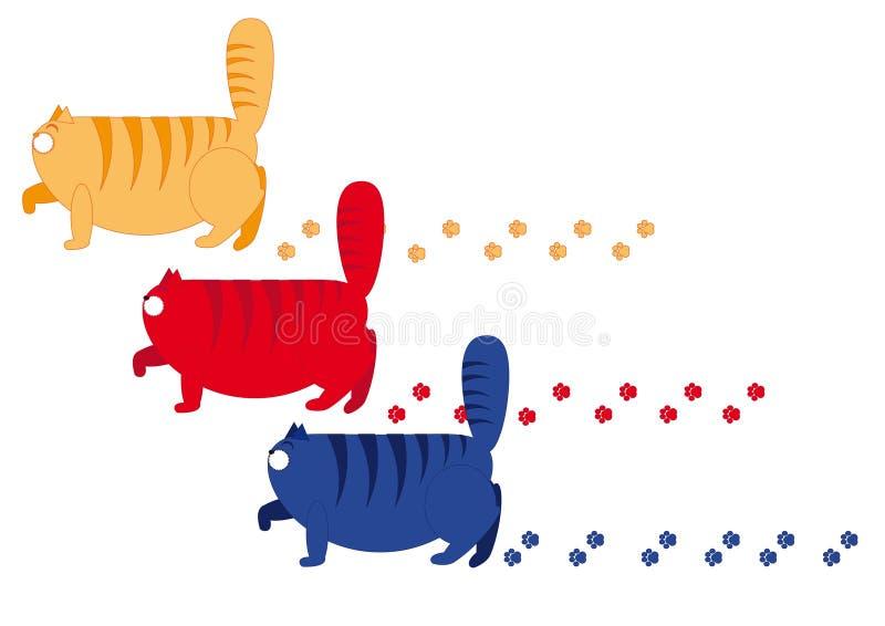 Gato de três gorduras ilustração royalty free