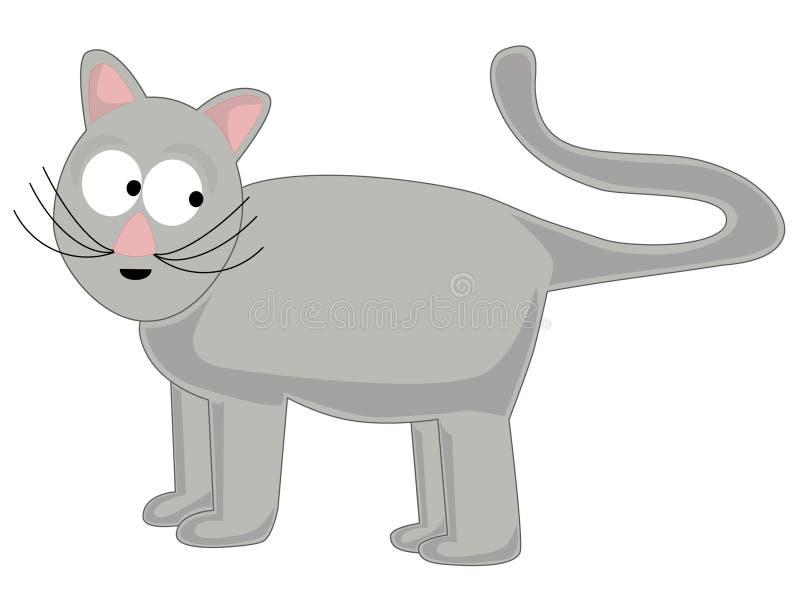 Gato del gris de la historieta stock de ilustración
