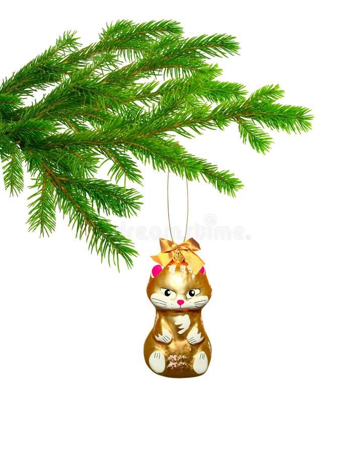 Download Gato Del Juguete De La Navidad En árbol Foto de archivo - Imagen de víspera, regalo: 7289392