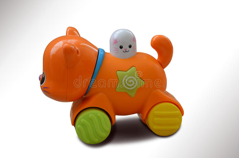 Gato do brinquedo foto de stock royalty free