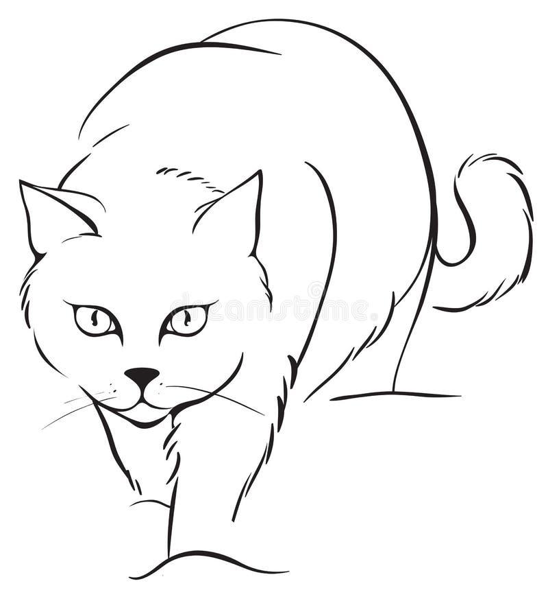 Gato do esboço ilustração do vetor