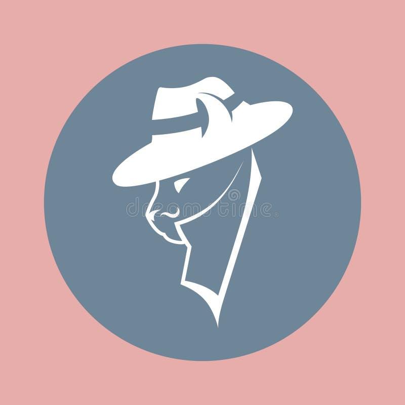 Gato do gângster no chapéu da máfia ilustração stock
