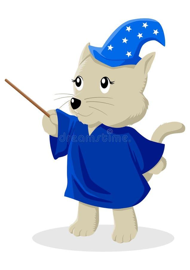 Gato do mágico ilustração royalty free