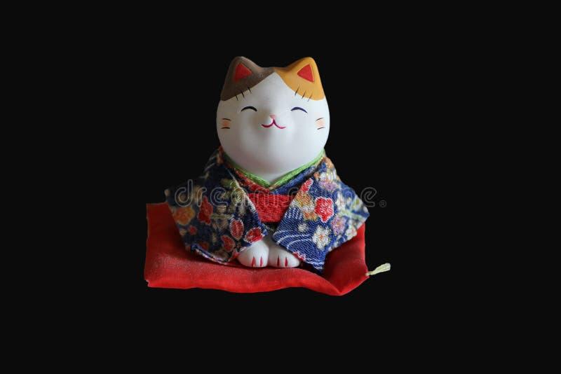 Gato do samurai imagem de stock