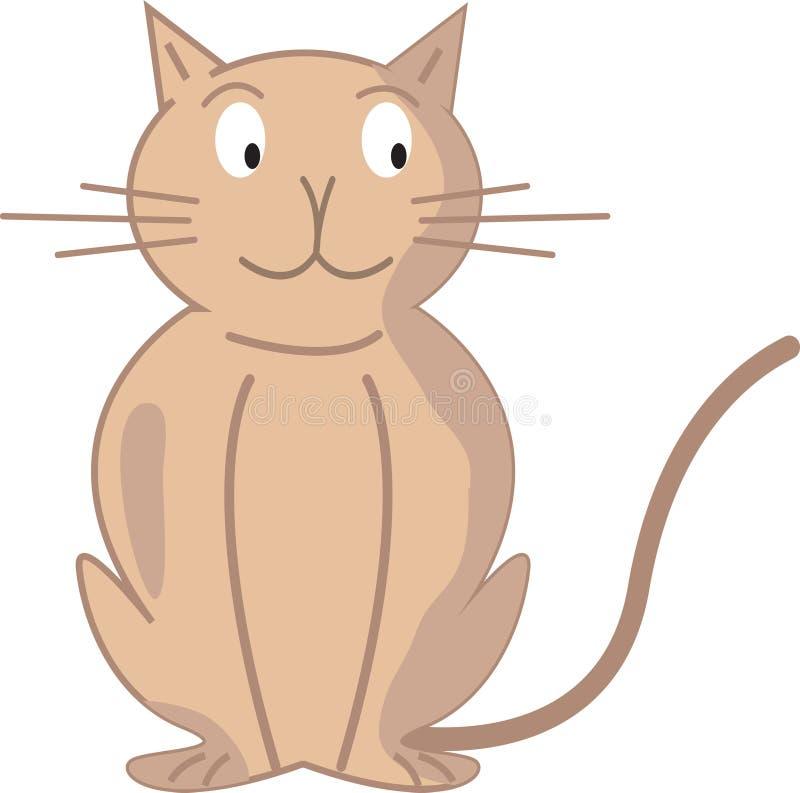 Gato dos desenhos animados ilustração royalty free