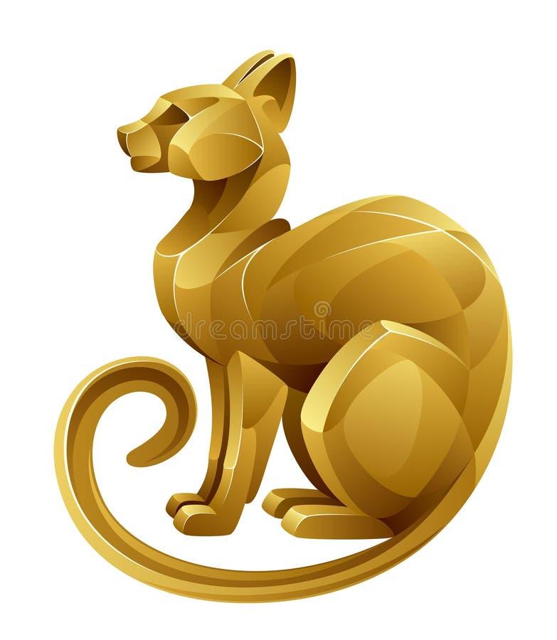 Gato dourado ilustração do vetor