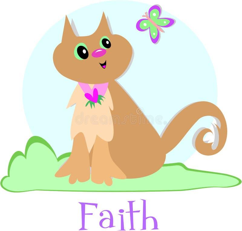 Gato e fé ilustração stock