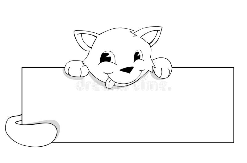 Gato e poster ilustração do vetor