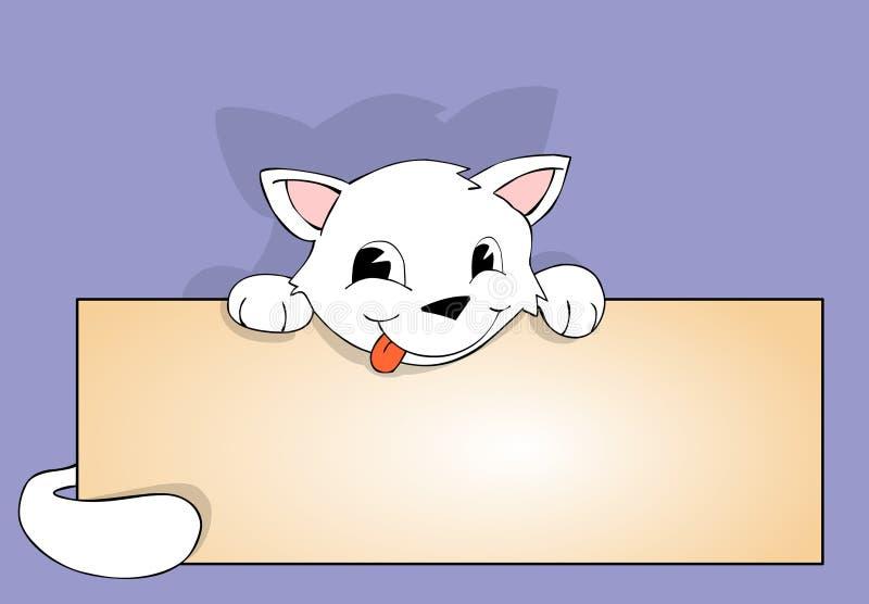 Gato e poster ilustração stock