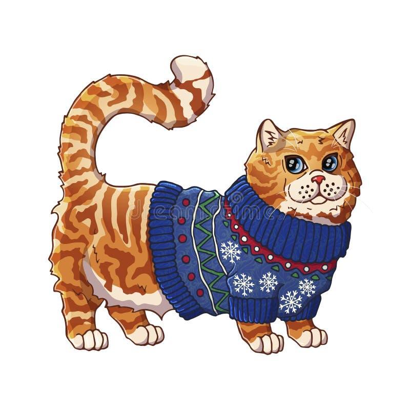 Gato en un suéter libre illustration