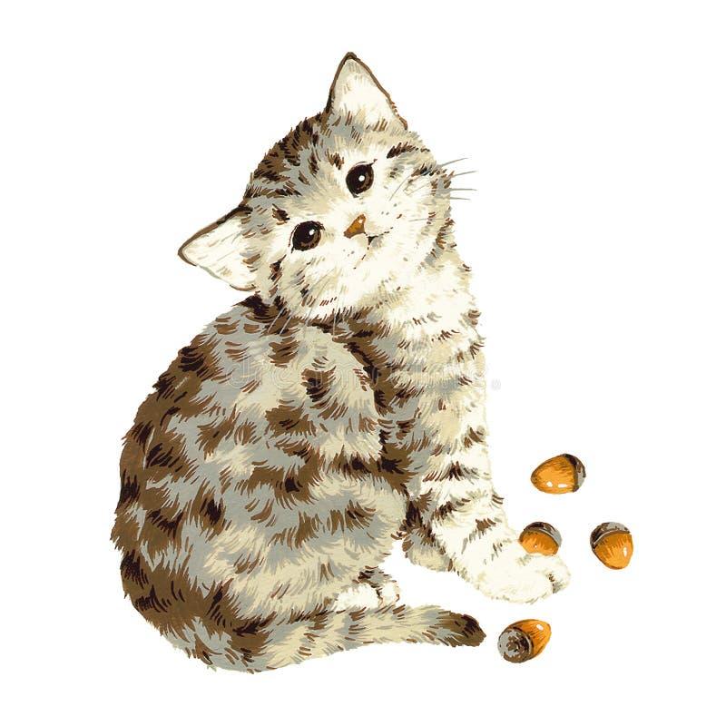 Gato encantador ilustração stock