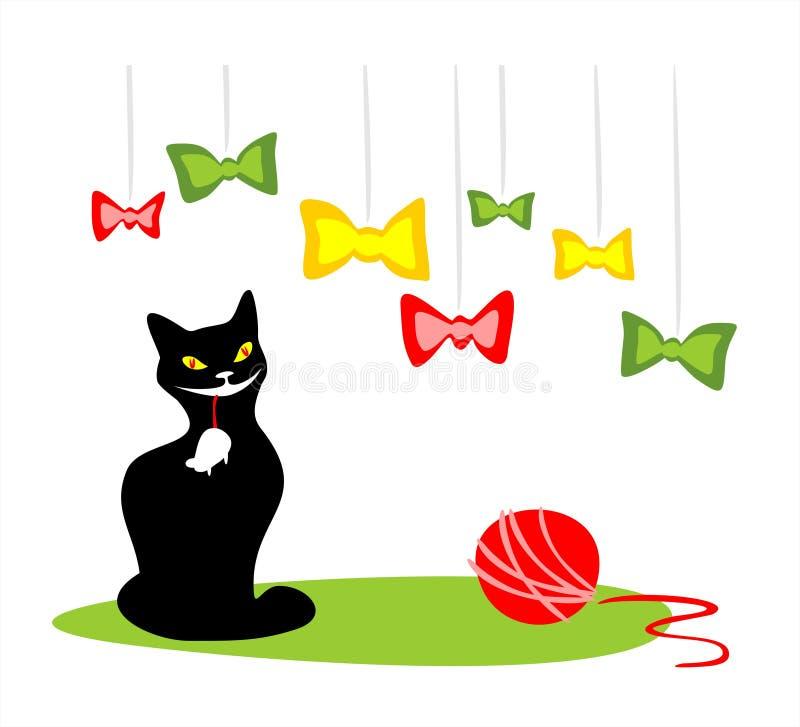 Gato feliz ilustração do vetor