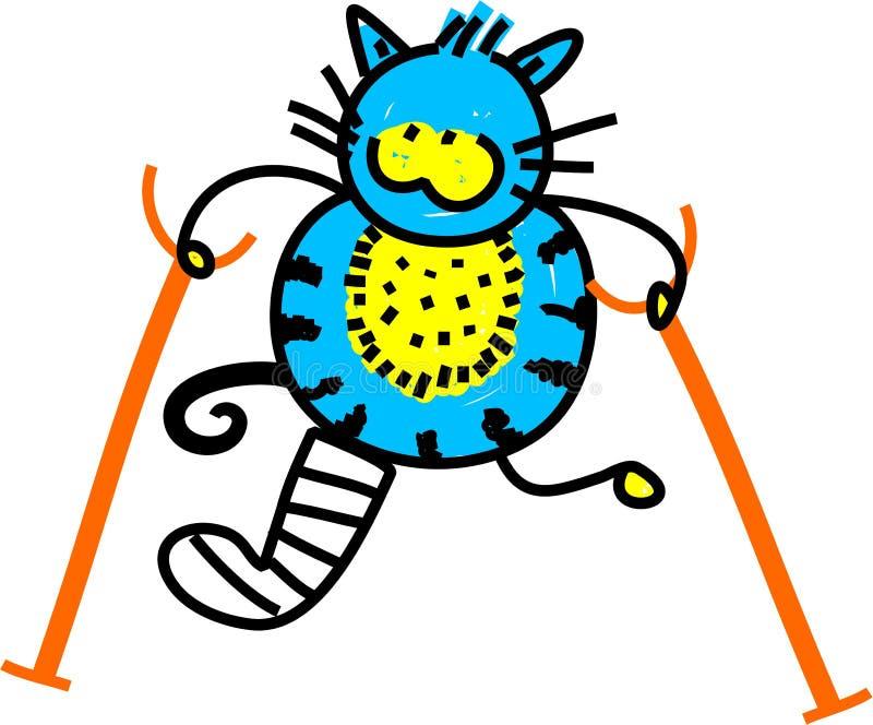 Gato ferido ilustração stock
