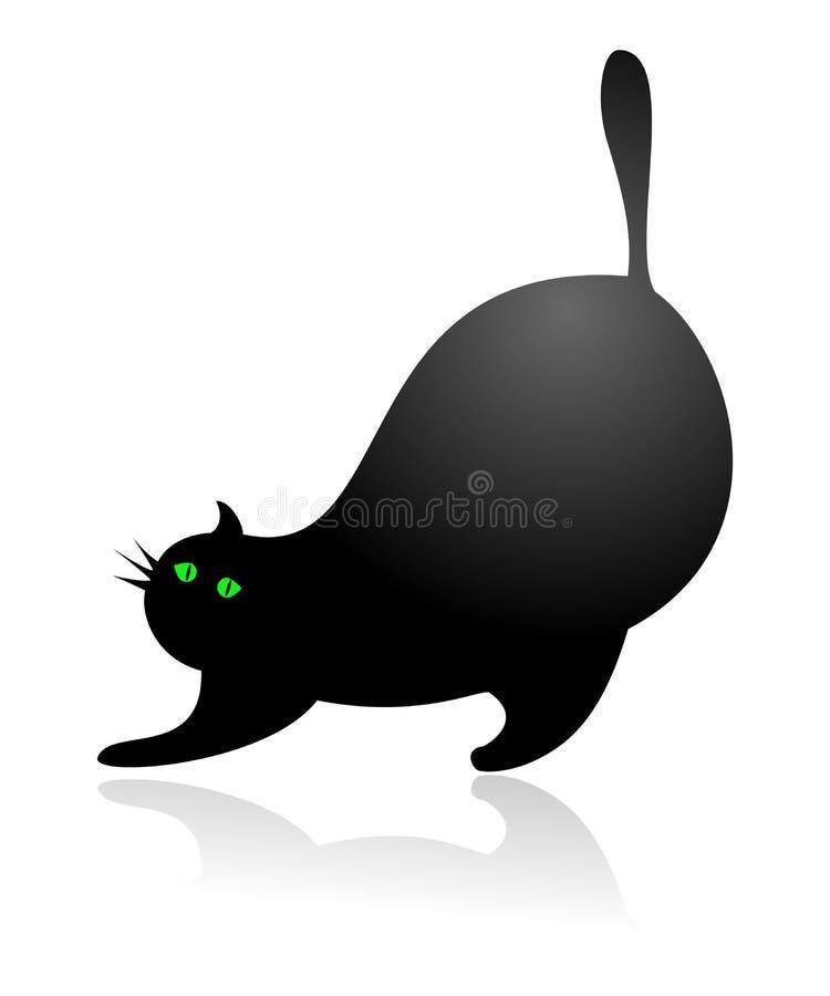 Gato gordo ilustração stock