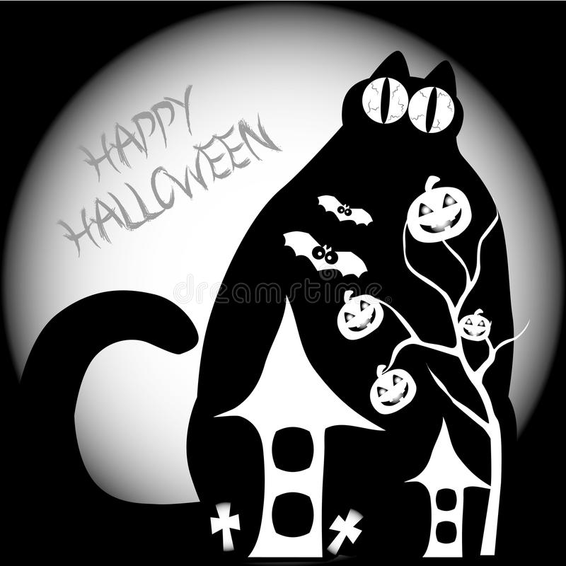 Gato grande de Halloween libre illustration
