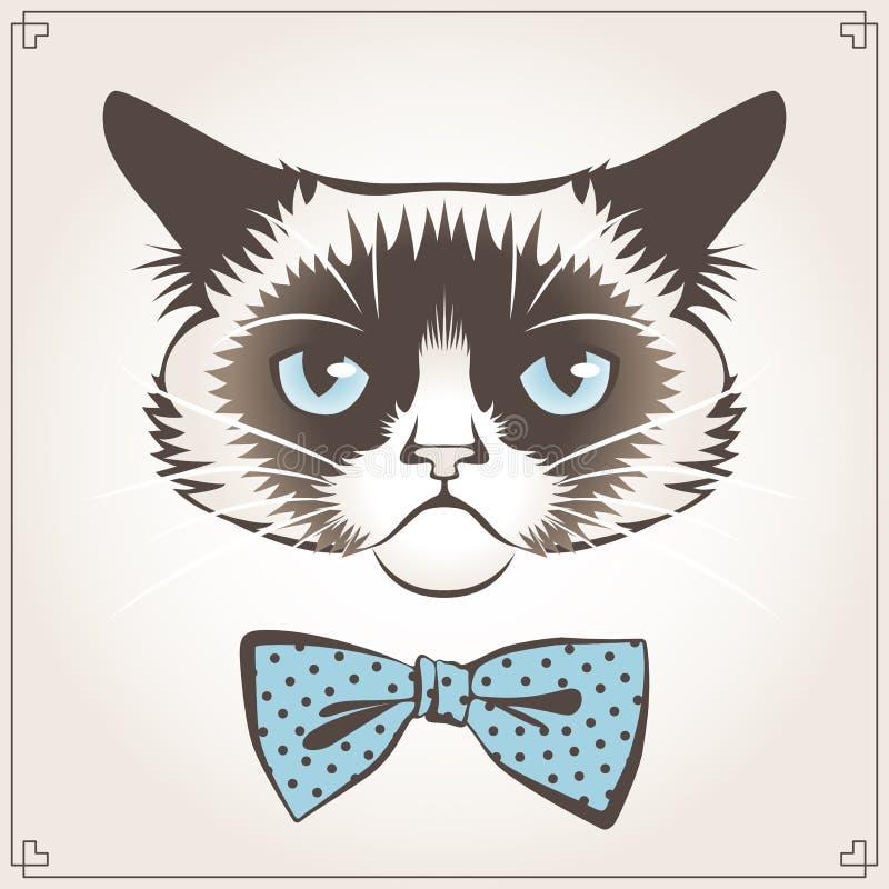 Gato gruñón stock de ilustración