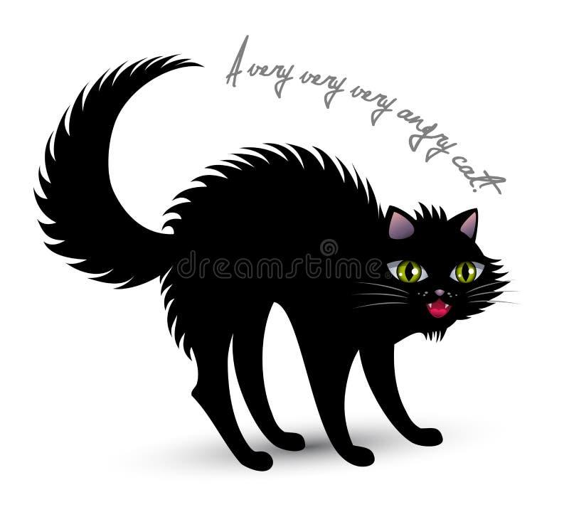 Gato irritado ilustração royalty free