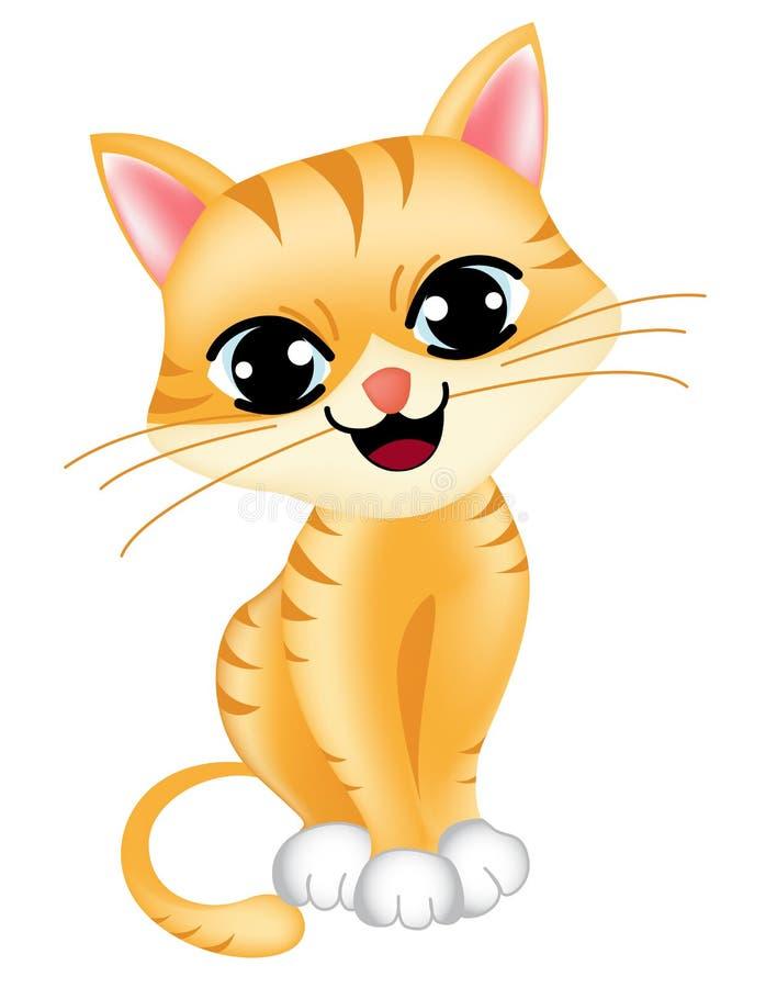 Gato lindo ilustración del vector