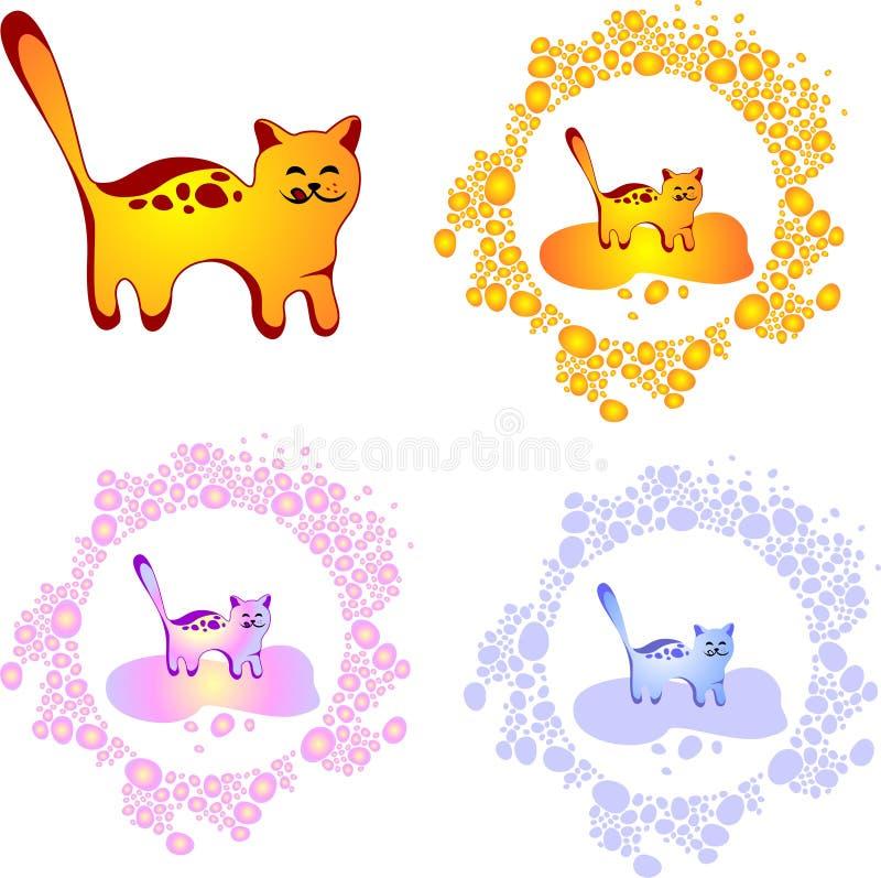 Gato lindo del vector ilustración del vector