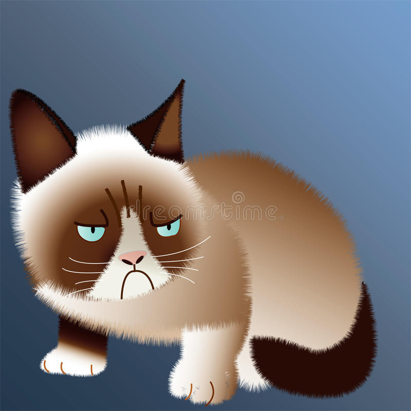 Gato mal-humorado ilustração royalty free