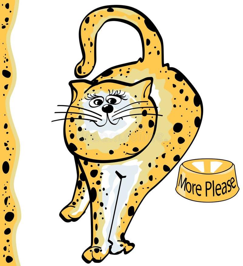 Download Gato manchado ilustração do vetor. Ilustração de feline - 534837